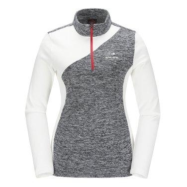 배색형 여성 짚업 티셔츠 Ⅱ DWF17214