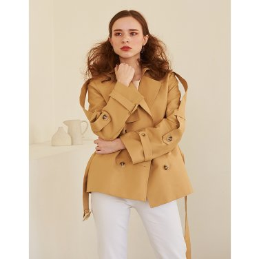 Short Trench Coat _ Beige