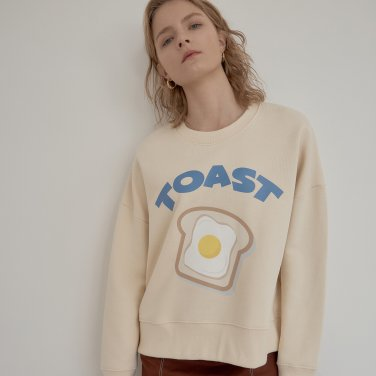 TOAST PRINT SWEATSHIRT_CREAM