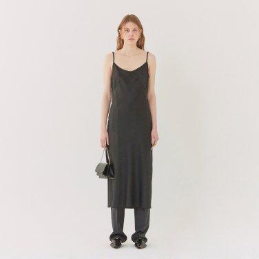 19SS MIDI SLIP DRESS - BLACK