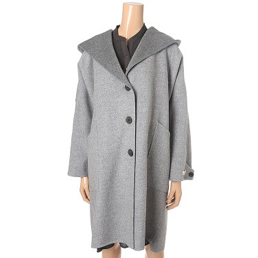 [여성]오버핏 후드 핸드메이드 코트 (T198MCT234W)