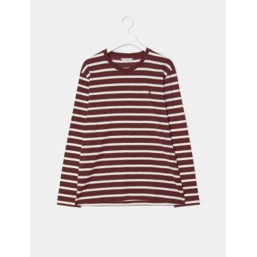 19SS  와인 스트라이프 라운드 티셔츠(BC9141A13Z-)