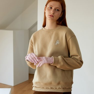 DOUBLE FRILL T-SHIRTS_BEIGE