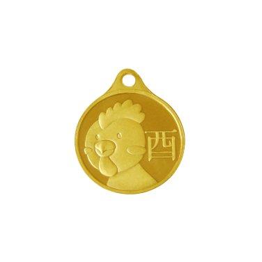 닭띠 목걸이 메달 3.75g