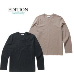 잔조직 슬릿넥 티셔츠 2종택1.NEA1TR1904