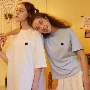 [LALA] 와펜 베이직 티셔츠 (AL1CT3A2)