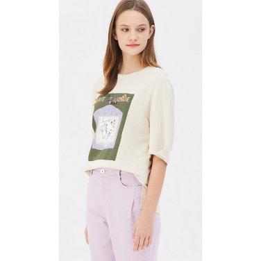 믹스 프린팅 티셔츠 BATS03941