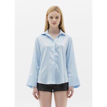satin blouse skyblue SH04