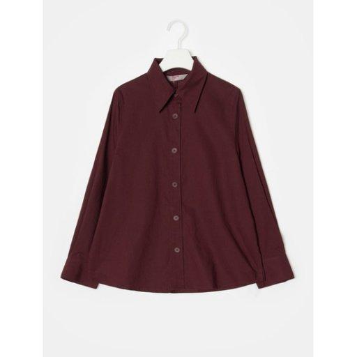 여성 와인 텐셀 코튼 빅 버튼 셔츠 (118864SY1Z)