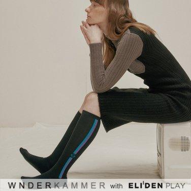 [분더캄머:WNDERKAMMER] Logo Socks_Black (WK9F8-WLAC010)