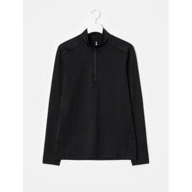 남성 [ACTIVE8] 블랙 하프 집업 티셔츠 (428X41WA25)