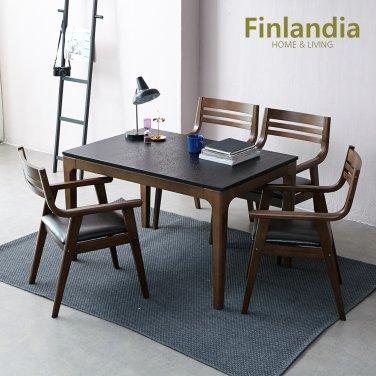 핀란디아 베르체 4인 화산석 식탁세트(의자4)