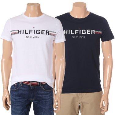 힐피거 로고 포인트 반팔 티셔츠 TMMT1KOE43A0