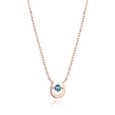 14K 럭키유 다이아몬드 목걸이 B9018D