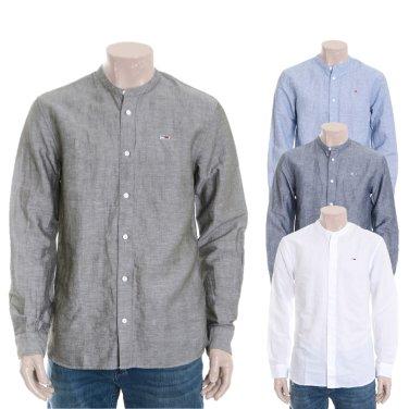 남성 린넨혼방 솔리드 긴소매 셔츠 TJMT2HCE05D0