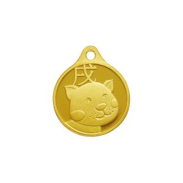 개띠 목걸이 메달 3.75g