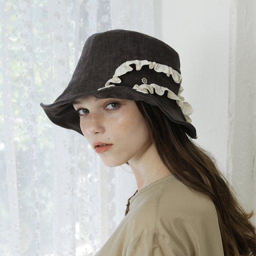 Lace detail bucket hat