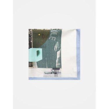 아이보리 콜라보 프린트 스카프 (BF8784U040)