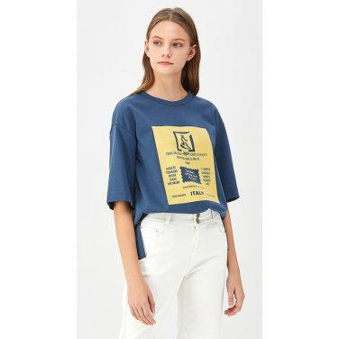 레터링 그래픽 슬릿 티셔츠 BATS17941
