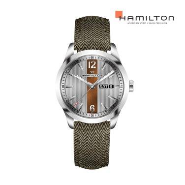 H43311985 브로드웨이 데이데이트 쿼츠 그린 남성 시계