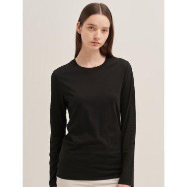 블랙 베이직 엔트리 로고 티셔츠 (BF9741U075_)