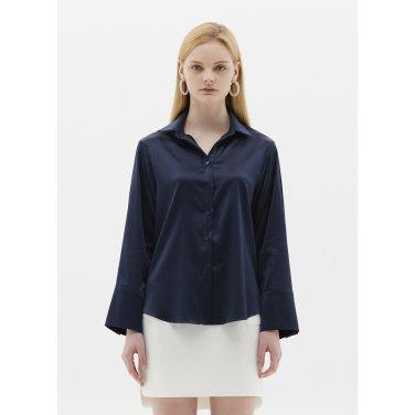 satin blouse navy SH03