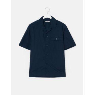 19SS  네이비 오버사이즈 오픈 칼라 셔츠(BC9465C22R)