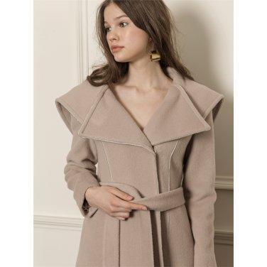 [까이에] Wide collar coat