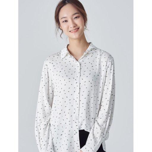 여성 아이보리 투톤 페인트 패턴 셔츠 (158X64WY20)