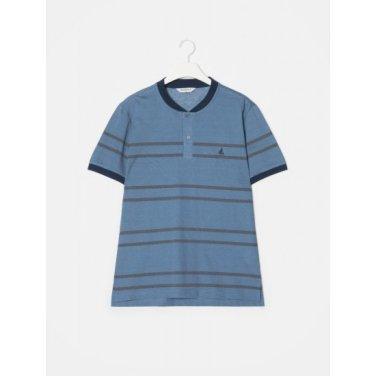 블루 스트라이프 소로나 헨리넥 티셔츠 (BC9342A23P)