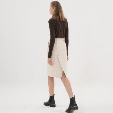 Denim Twill Skirt - Cream