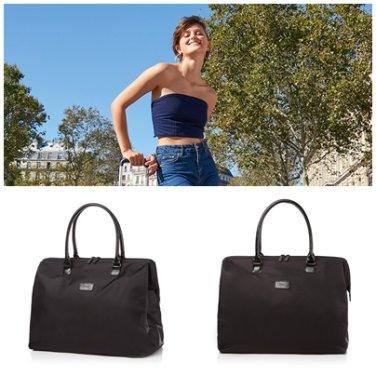보스턴백 P5101303 블랙 LADY PLUME 여름 가을 캐리어 거치 겸용 여행 가방