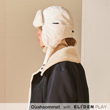 [우아솜메] Ouahsommet FLIGHT FUR HAT [WHITE] (OBBCP002A)