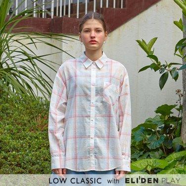 [로우클래식][이솜 착용] 19 SUMMER LOCLE _ side slit shirts pinkcheck (Z3LCI5ST105)