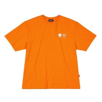 남녀공용 Dust Heart 1/2 Sleeve T-shirt_PNEU20KT0906