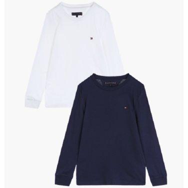 코튼 베이직 긴소매 티셔츠 2P( T41J6KKO111BT2)