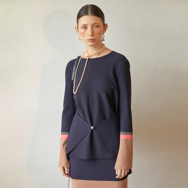 Olibia Pannel Top_Navy  (JC19FWTP08N)