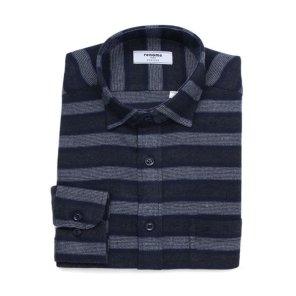 TR 위사 스트라이프 기모 일반핏 셔츠 RIWSG0201NYIL