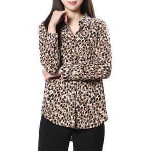 레오퍼드 프린트 셔츠(SWWSTJ41020)