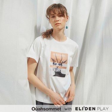 [우아솜메] Ouahsommet Safari Collage T-Shirt_WH (OBFTS014A)