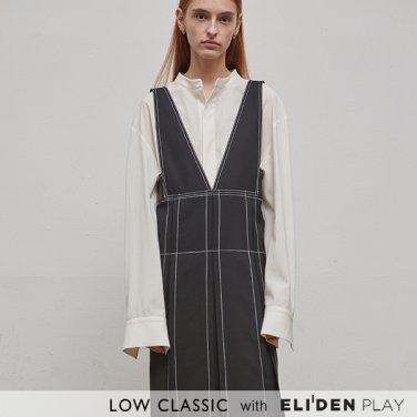 [로우클래식] 19SS STITCH SLEEVELESS DRESS - BLACK (Z3LCI5DR006.BK)