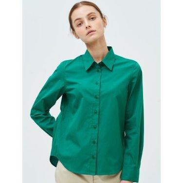 [Online Exclusive] 그린 솔리드 베이직 셔츠 (BF9264N01M)