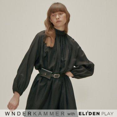 [분더캄머:WNDERKAMMER] Silk Blended Dress_Black (WK9F0-SBOP040)
