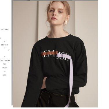 [비뮤즈맨션] [신세경 착용] BEMUSE Volume Sleeve T-shirts 2COLORS (BM36E)