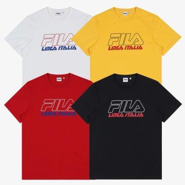 레귤러핏 LINEA ITALIA 로고 반팔 티셔츠 4종 택1 (FS2RSB2106X_SKU)
