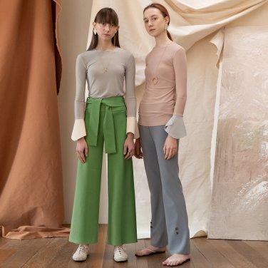Basel Ribbon Wide Trouser_Citrus Green (JC19FWPT24CG)