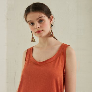 Onic Linen Sleeveless _ Orange