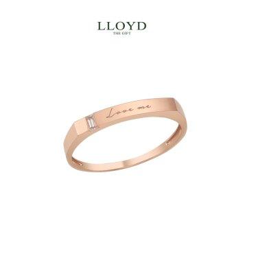 러브미 사각 각인 여성용 반지(LRW19012T)