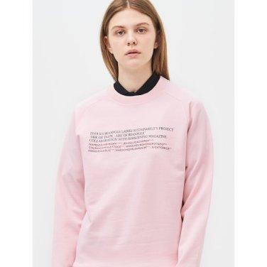 [Online Exclusive] 라이트 핑크 베이직 그래픽 스웨트 셔츠 (BF9241N02Y_)