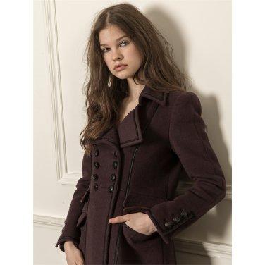 [까이에] Double-breasted wool coat